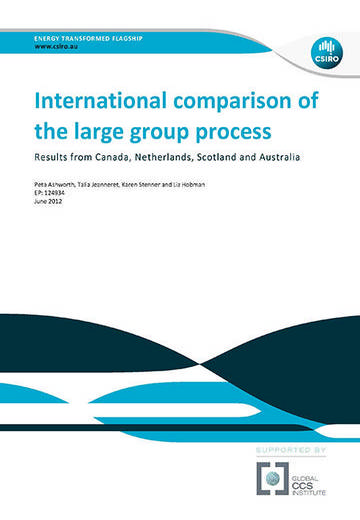 International comparison of the large group process: results from Canada, Netherlands, Scotland and Australia