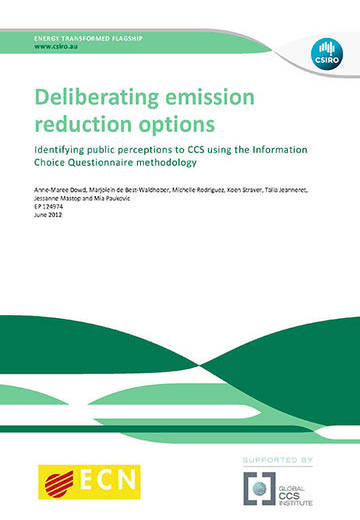 Deliberating emission reduction options: identifying public perceptions to CCS using the Information Choice Questionnaire methodology