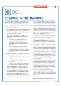 CCS/CCUS in the Americas