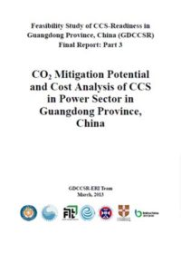 CO2 mitigation potential and cost analysis of CCS in power sector in Guangdong Province, China