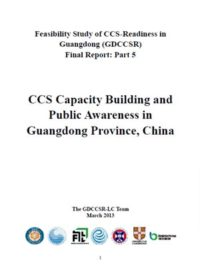 CCS capacity building and public awareness in Guangdong Province, China