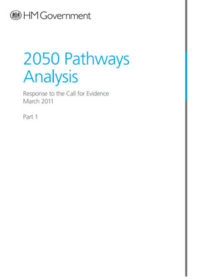 2050 pathways analysis: response to the call for evidence. Part 1