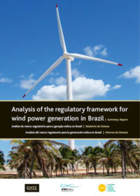 Analysis of the regulatory framework for wind power generation in Brazil: summary report