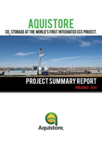 Aquistore: CO2 storage at the world's first integrated CCS project. Project summary report