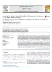 Assessing the dynamic material criticality of infrastructure transitions: a case of low carbon electricity
