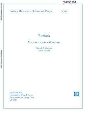 Biofuels: markets, targets and impacts