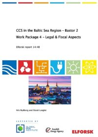 CCS in the Baltic Sea Region – Bastor 2. Work package 4: legal and fiscal aspects