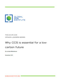 Why CCS is essential for a low-carbon future
