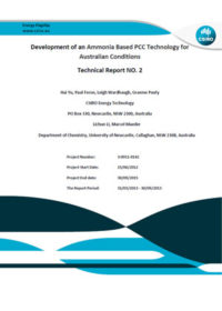 Development of an ammonia based PCC technology for Australian conditions: technical report no. 2
