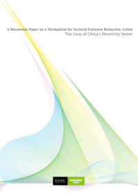 A discussion paper on a mechanism for sectoral emission reduction action: the case of China's electricity sector