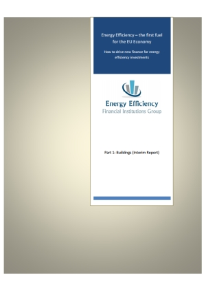 Energy efficiency – the first fuel for the EU economy: how to drive new finance for energy efficiency investments. Part 1: buildings (interim report)