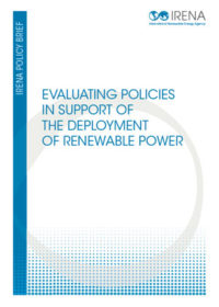 Evaluating policies in support of the deployment of renewable power