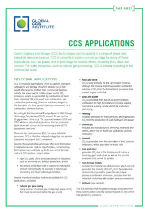 CCS applications