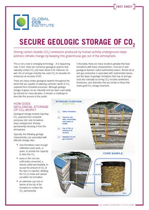 Secure geologic storage of CO2