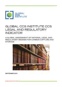 Global CCS Institute CCS legal and regulatory indicator