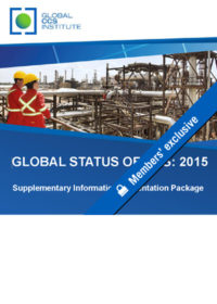 The global status of CCS: 2015. Supplementary information presentation package