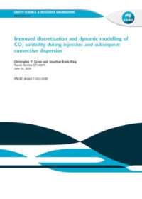 Improved discretisation and dynamic modelling of CO2 solubility during injection and subsequent convective dispersion