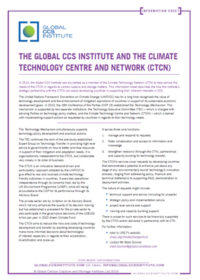 The Global CCS Institute and the Climate Technology Centre and Network (CTCN)