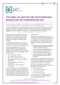 The Global CCS Institute and the International Organization for Standardization (ISO)