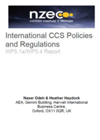International CCS policies and regulations: WP5.1a/WP5.4 report