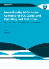 Novel gas-liquid contactor concepts for PCC capital and operating cost reduction