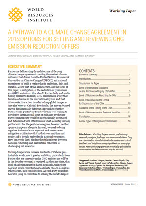 A pathway to a climate change agreement in 2015: options for setting and reviewing GHG emission reduction offers