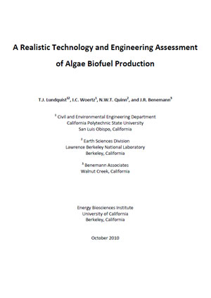 A realistic technology and engineering assessment of algae biofuel production