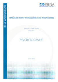 Renewable energy technologies: cost analysis series. Hydropower