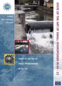 State of the art of small hydropower in EU – 25