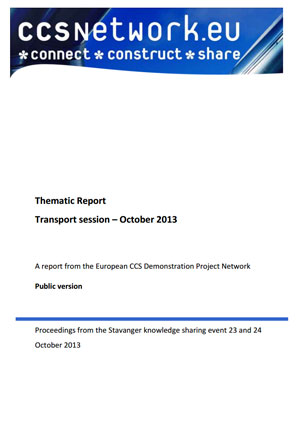 Thematic report. Transport session: October 2013