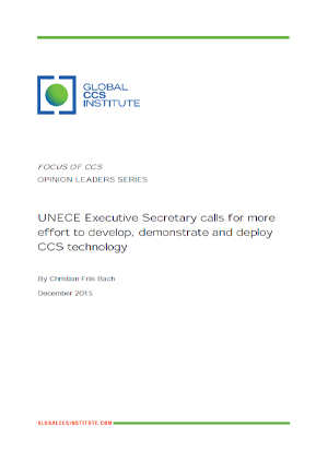 UNECE Executive Secretary calls for more effort to develop, demonstrate and deploy CCS technology