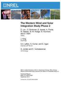 The western wind and solar integration study phase 2