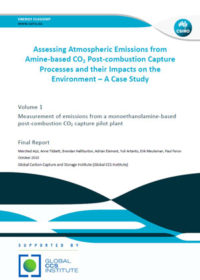 Assessing atmospheric emissions from an amine-based CO2 post-combustion capture processes and their impacts on the environment: a case study
