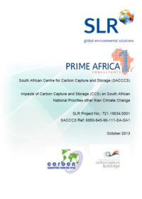 Impacts of carbon capture and storage (CCS) on South African national priorities other than climate change