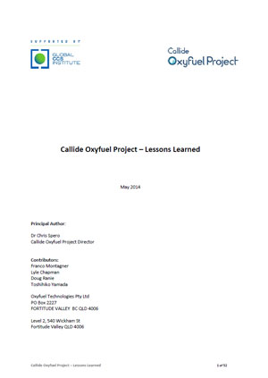 Callide Oxyfuel Project: lessons learned