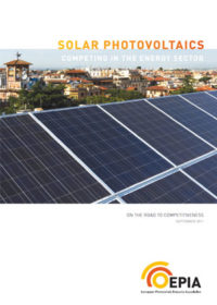 Solar photovoltaics: competing in the energy sector