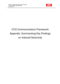 CCS communications framework appendix: Summarising key findings on induced seismicity