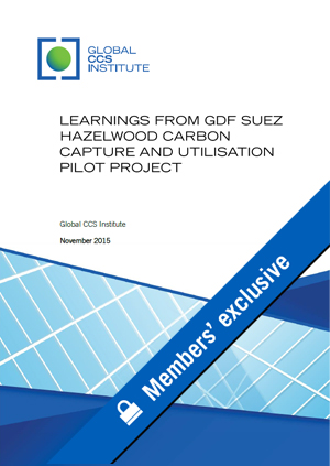 Learnings from GDF SUEZ Hazelwood carbon capture and utilisation pilot project