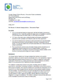 Institute submission to Australian Government review of climate policies