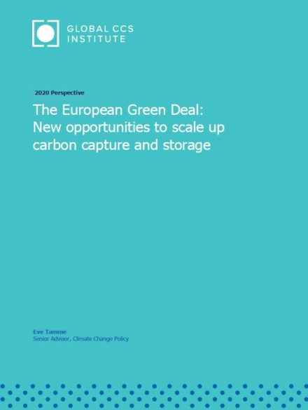 The European Green Deal: New opportunities to scale up carbon capture and storage