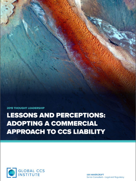 Lessons and Perceptions: Adopting a Commercial Approach to CCS Liability
