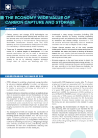 Factsheet: The Economy Wide Value of CCS