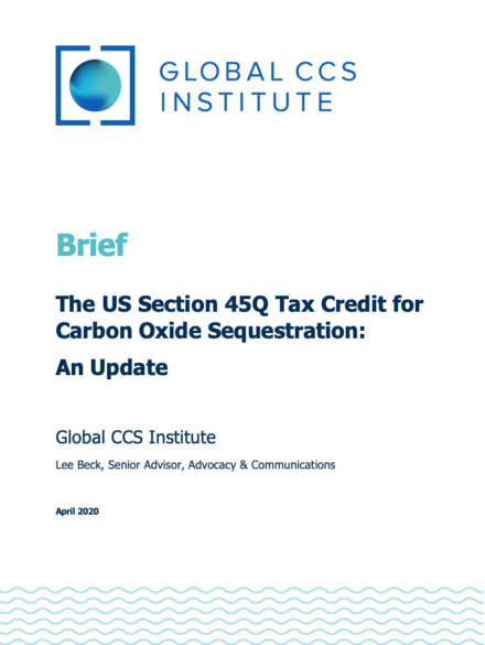 The US Section 45Q Tax Credit for Carbon Oxide Sequestration: An Update