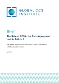 The Role of CCS in the Paris Agreement and its Article 6