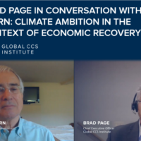 Climate ambition in the context of CV-19 recovery: Brad Page in conversation with Lord Nicholas Stern