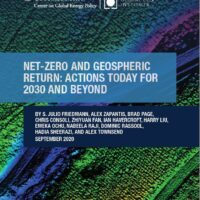 Climate Week NYC 2020 – Achieving a Net Zero Emissions Economy
